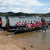 Boating tour at Waitangi Wharf in Bay of Islands, New Zealand.