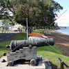 Cannon in front of Russell Town Hall in Bay of Islands, New Zealand.