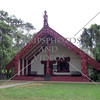 The Meeting House on Waitangi Treaty Grounds in Bay of Islands, New Zealand.