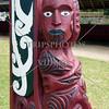 Maori War Canoe carved tailboard symbol.