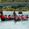 Maori Canoe tour at Waitangi Wharf in Bay of Islands, New Zealand.
