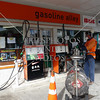 Gas station at Paihia Village in Bay of Islands, New Zealand.