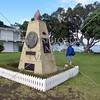 War memorial and monument at Paihia Village in Bay of Islands, New Zealand.