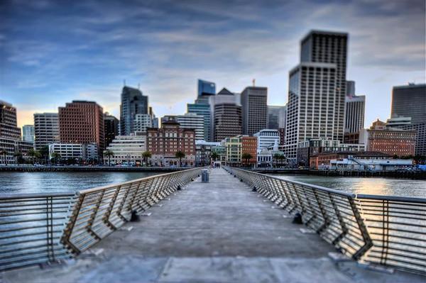 The pier at the bay bridge.
