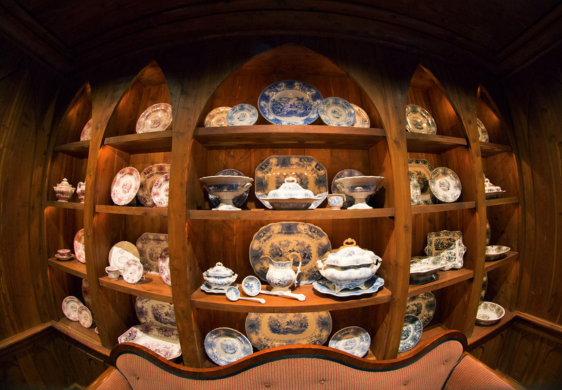 Elegant china in the Texas Room