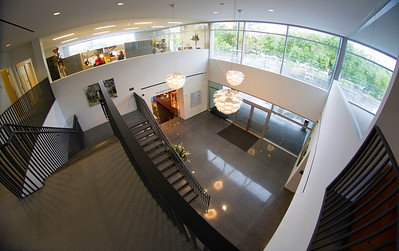 The Education Center Lobby seen from above