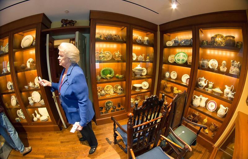 Carol Jean describing contents of the Ceramics Study Room