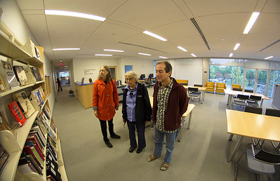 Margaret Culbertson, Carol, and Sean in the Education Center's Library