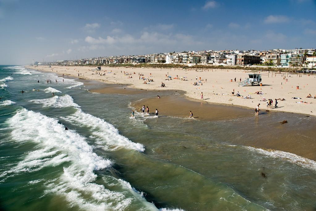 Surf's up at Manhattan Beach.