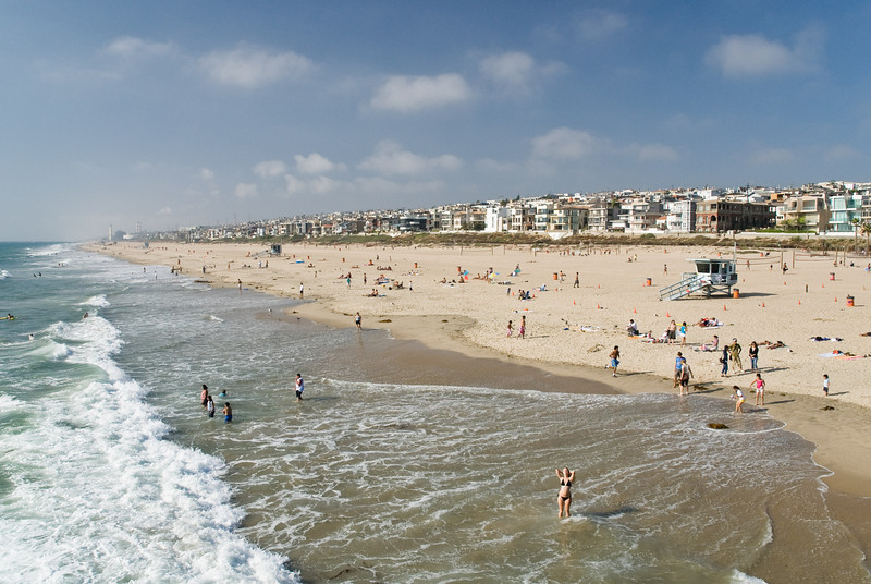 Pretty Manhattan Beach panorama.