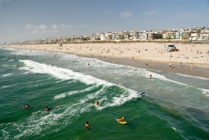 Manhattan Beach surfers.