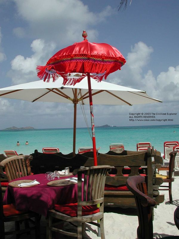 The Tom Beach restaurant.