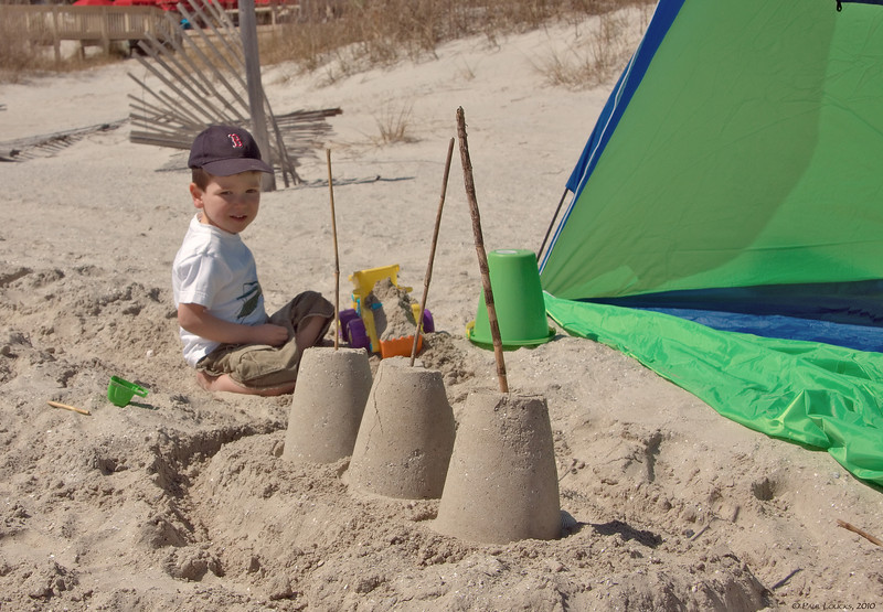 Grandson Paul at the Beach, 2010
