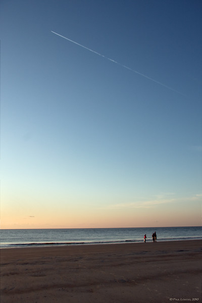 Late Afternoon Contrail, Palmetto Dunes, Hilton Head Island, SC