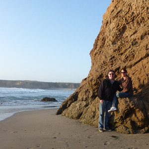 Watching the waves on the Pacific Coast.