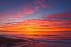 Vivid  San Diego sunset in January 2019