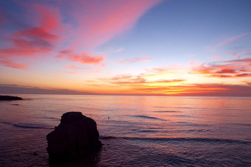 Beautiful January sunset in San Diego, CA.