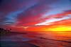 Fantastic sunset along the California coast in San Diego.