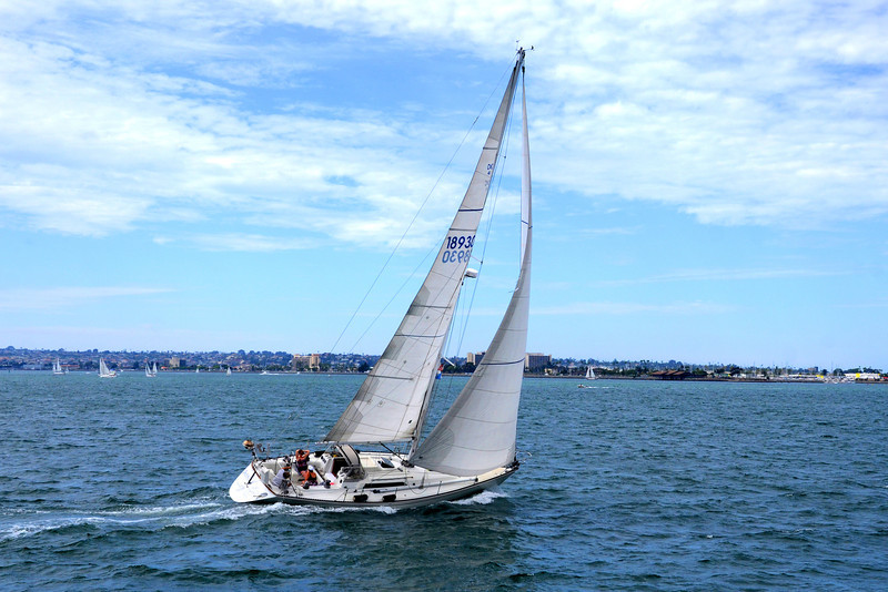 Sailing on San Diego Bay