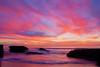 Wonderful sunset from the foot of Santa Cruz Ave. in Ocean Beach, San Diego, California