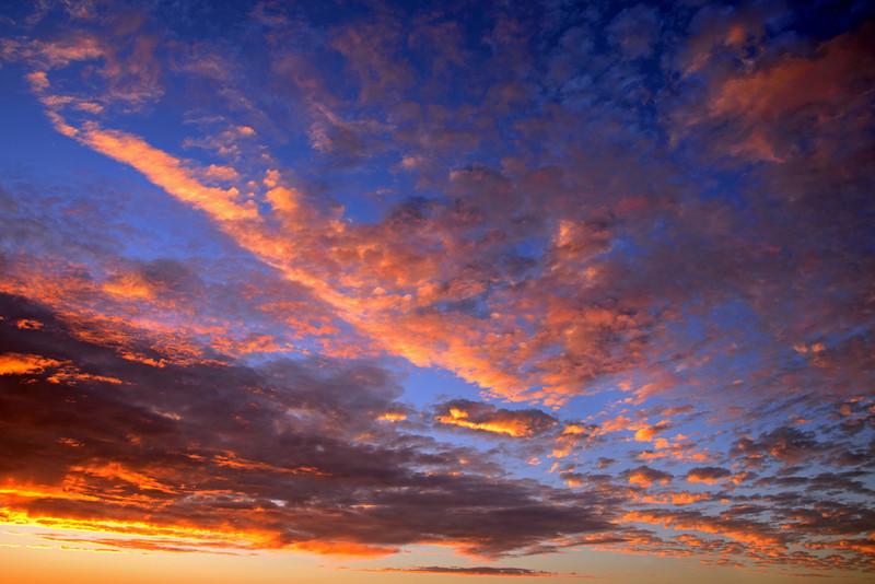 Summer sunset sky in San Diego
