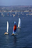 Weekend sailing on Mission Bay, in San Diego, California.