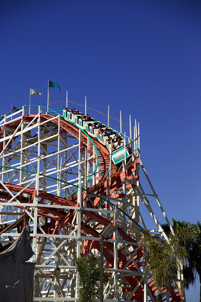 The Giant Dipper Roller Coaster, in Belmont Park at San Diego's Mission Beach, opened in to the public on July 4th, 1925.