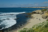 Beautiful Shell Beach, in La Jolla, California on a clear and sunny afternoon.