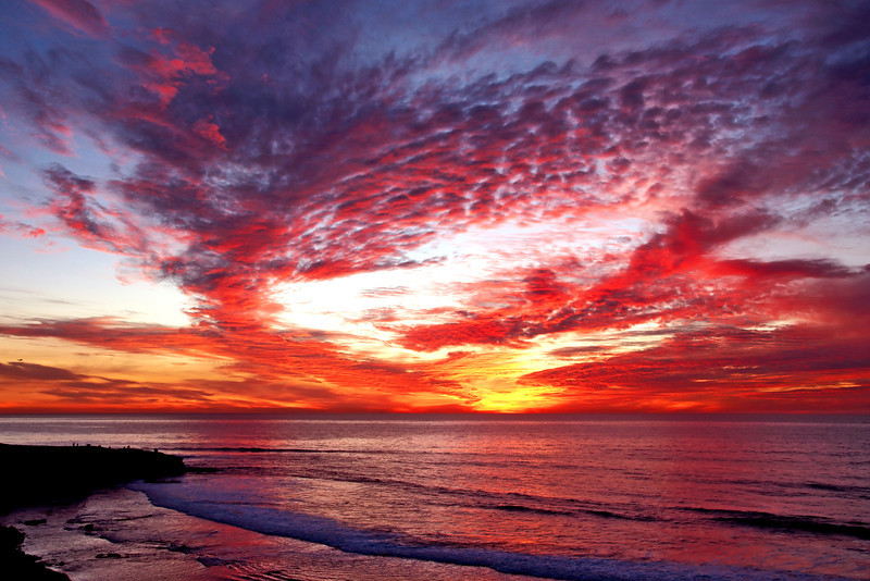 It was worth the wait for this spectacular San Diego sunset!