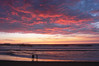 Enjoying a fantastic sunset at Ocean Beach, in San Diego, California.