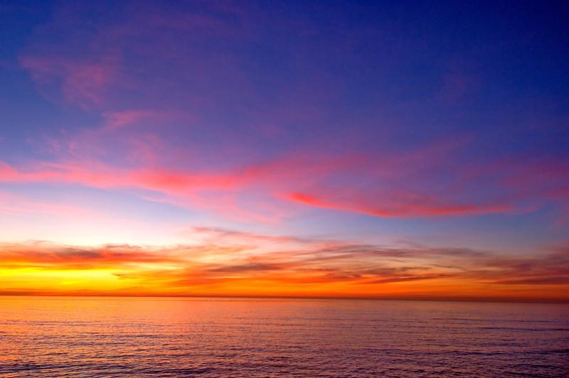 A beautiful winter sunset along the coast of San Diego.