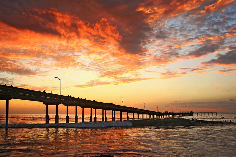 A great September evening at the Ocean Beach Pier