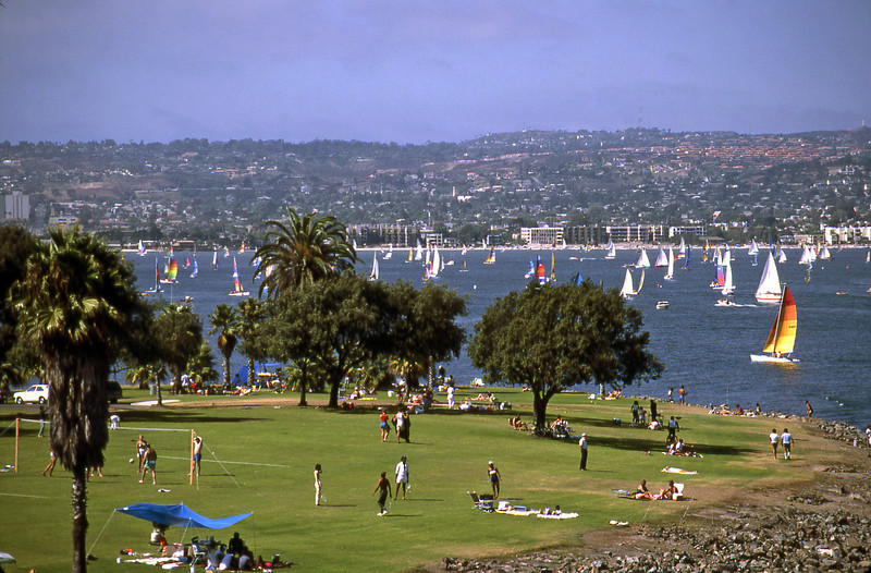 Mission Bay Park on a hot summer day in July!