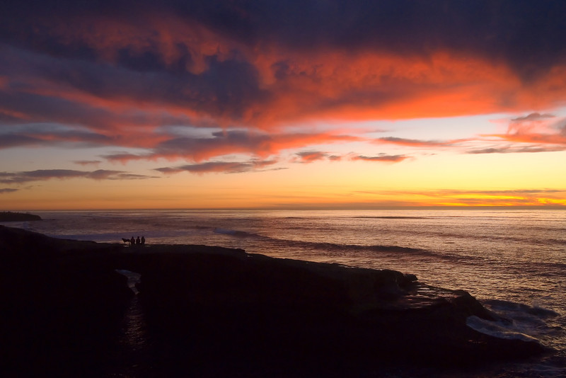 An incredible January evening along Sunset Cliffs Blvd, in San Diego, California.