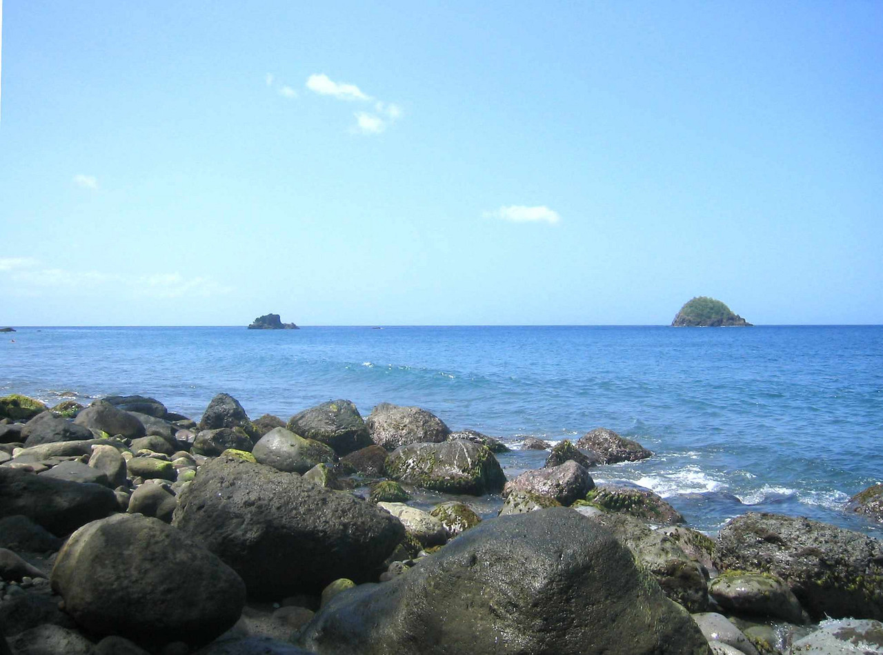 The view from Anse Couleuvre, the beach at the end of the world.
