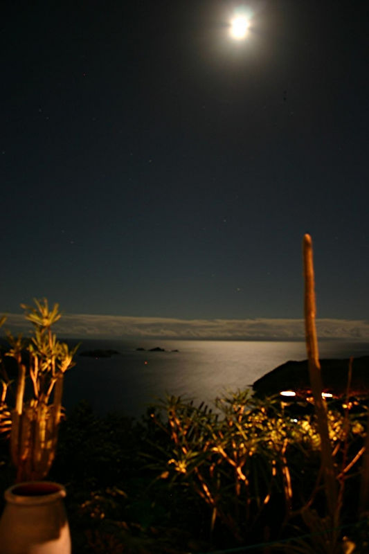 A thirty-second exposure of the Caribbean from our villa Ker Roch Glaz.