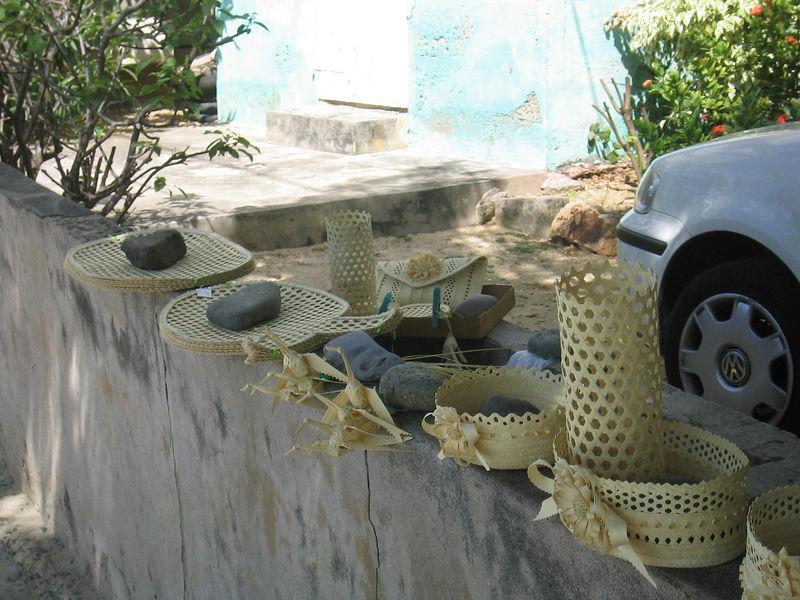 An artisan's work in Corossol.