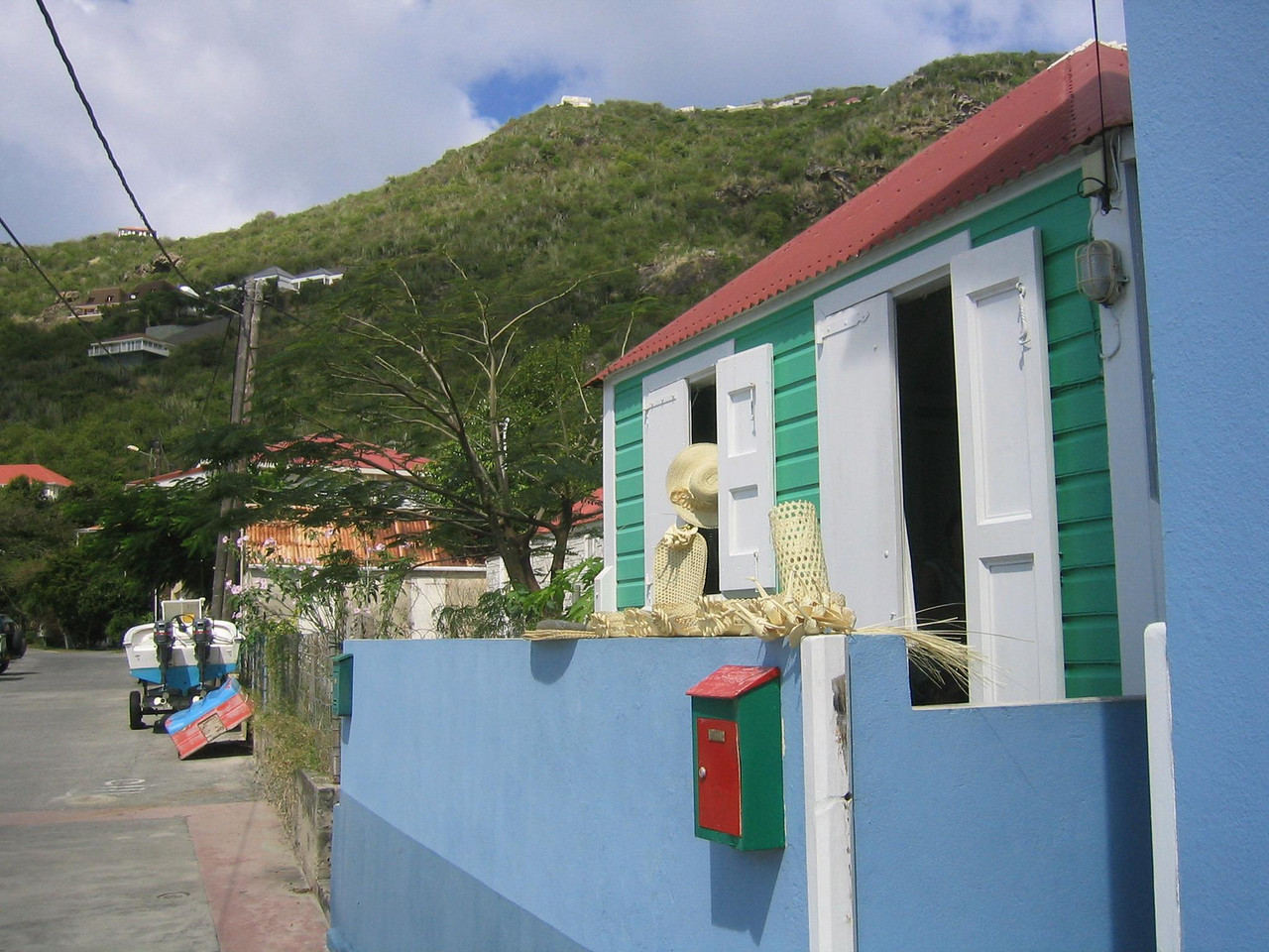 Corossol is a small village on the island where you can buy locally woven goods and enjoy the beach and slow pace.