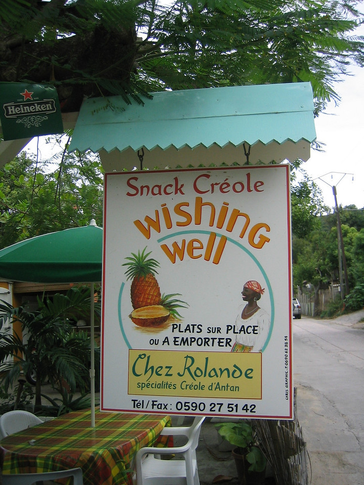 This is an inexpensive Creole restaurant in Anse des Flamands. (geotagged)