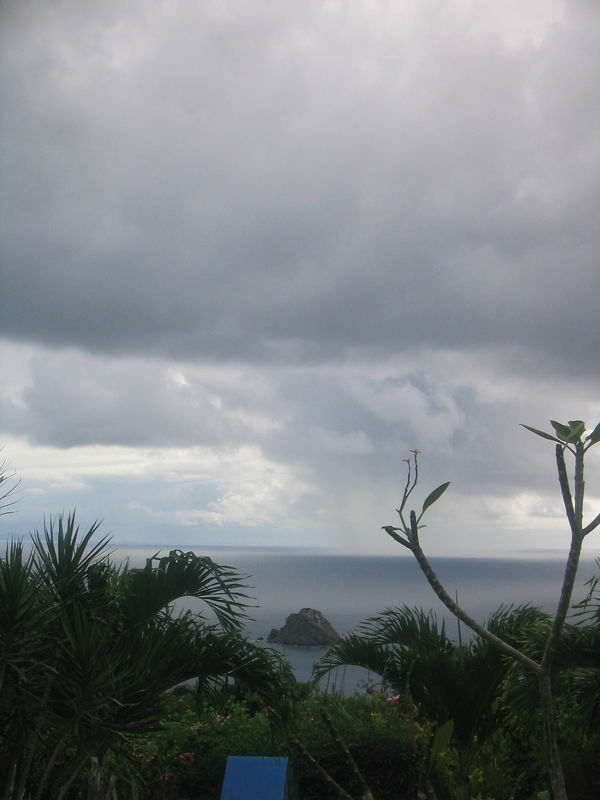 A view from Ker Roch Glaz of a storm coming in from the Atlantic.