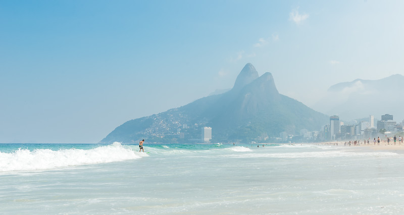 Surfing in Rio