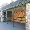 The tram stop shelter.
