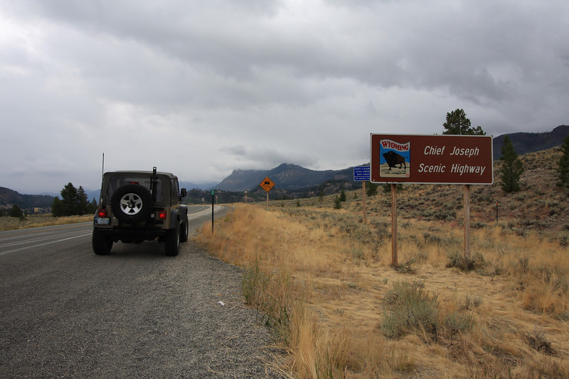 We were camped in Cody, Wyoming and had to take the Chief Joseph Highway to get to the Beartooth Highway.