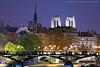 Notre Dame Cathedral, behind Pont des Arts, Paris