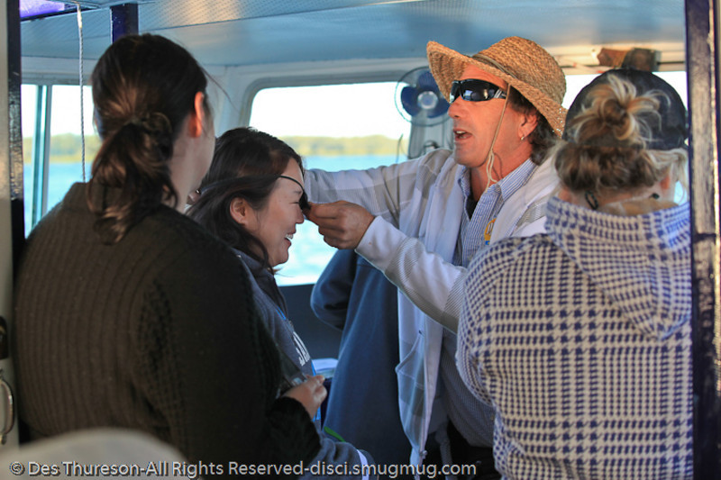 Life on the tourist ferry between Rainbow Beach & Tin Can Bay, Queensland, Australia; June 2010