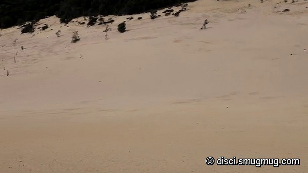 Video: looking from south to south-east across the Carlo Sandblow, Rainbow Beach, Queensland, Australia.