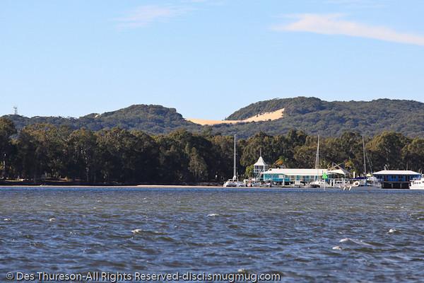 The Carlo Sandblow, as seen from Tin Can inlet, Rainbow Beach, Queensland, Australia; June 2010