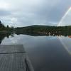 Nearby Androscoggin River rainbow (8/12/15)