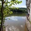 Dinant, Wallonia, Belgium - Epic mountain bike trails test your balance along the La Meuse river.