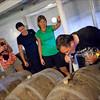 De Dolle Brouwers, Esen, Belgium - Legendary brewmaster Kris Herteleer shares samples of his barrel aged sour beer with his own personal method.